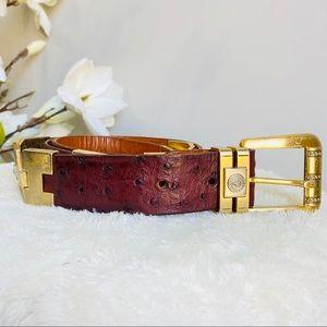 Vintage Versace ostrich leather belt